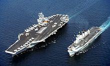 USS John C. Stennis CVN-74 and HMS Illustrious R 06.